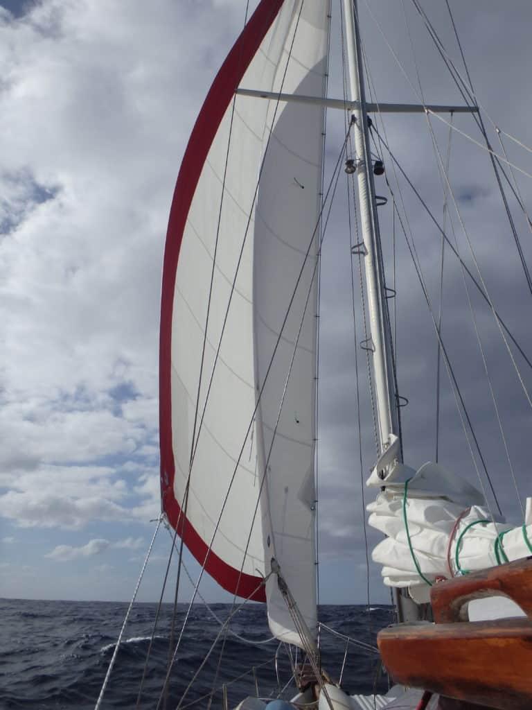Navigation sous voile avant