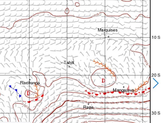 météo Tahiti isofronts