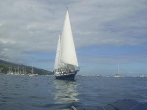 départ du voilier Phoenxi