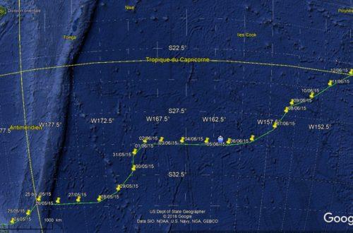 Notre route de navigation de nouvelle zealande à la polynesie francaise