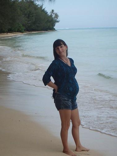 Mary sur la plage