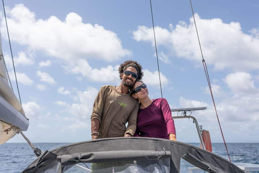 Chloe et Michel du voilier Colibri