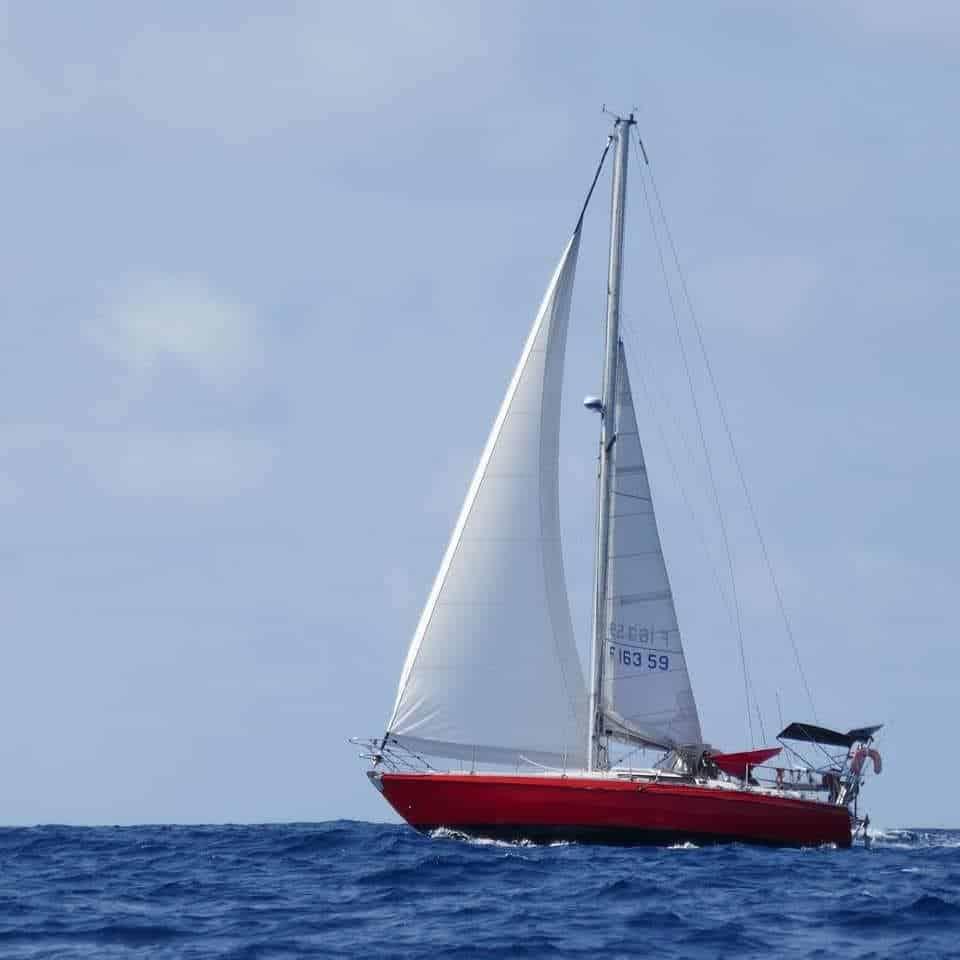 Le voilier Colibri en navigation
