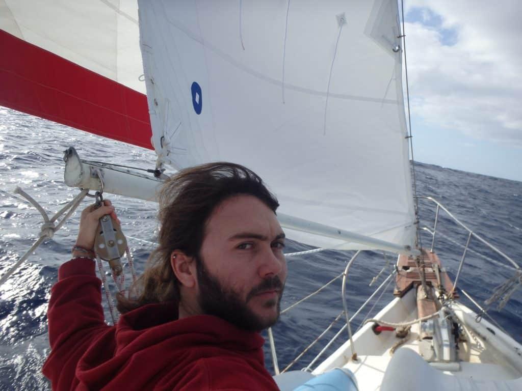 Antonin pendant la navigation
