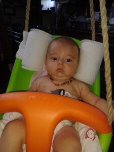 Blançoire - bébé bien calé