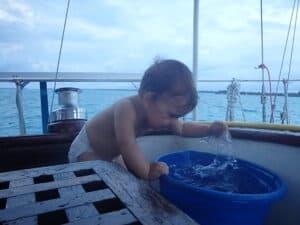 L'eau dans la bassine