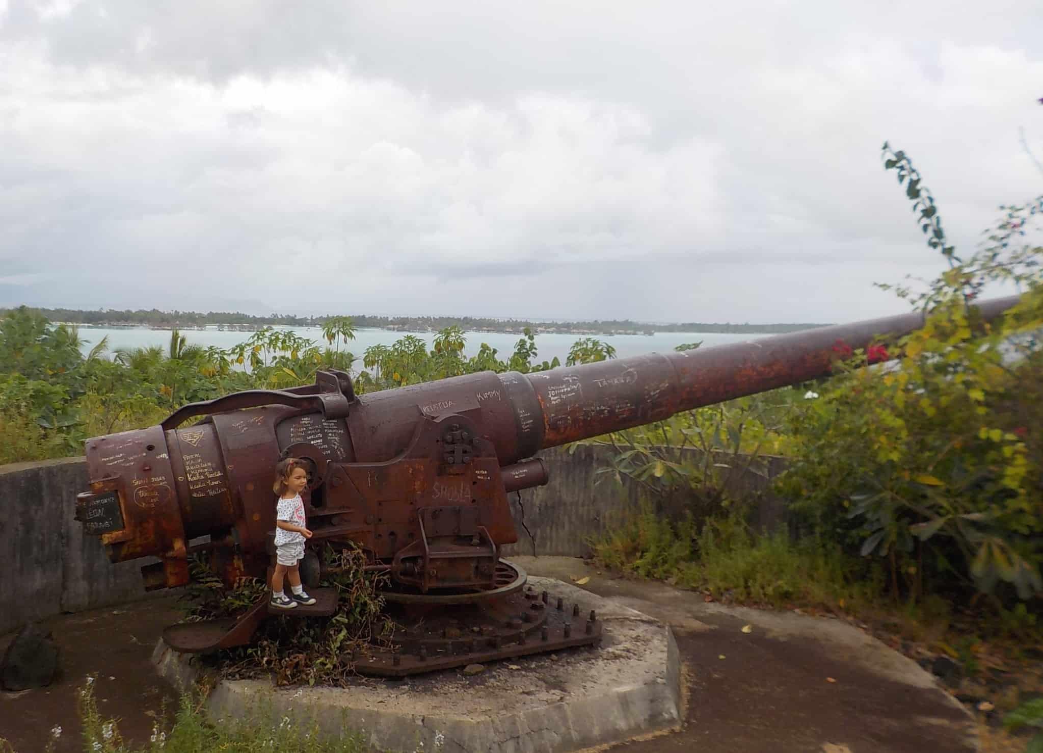 Canon à Bora Bora