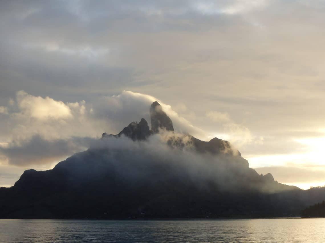 Couché de soleil à Bora Bora
