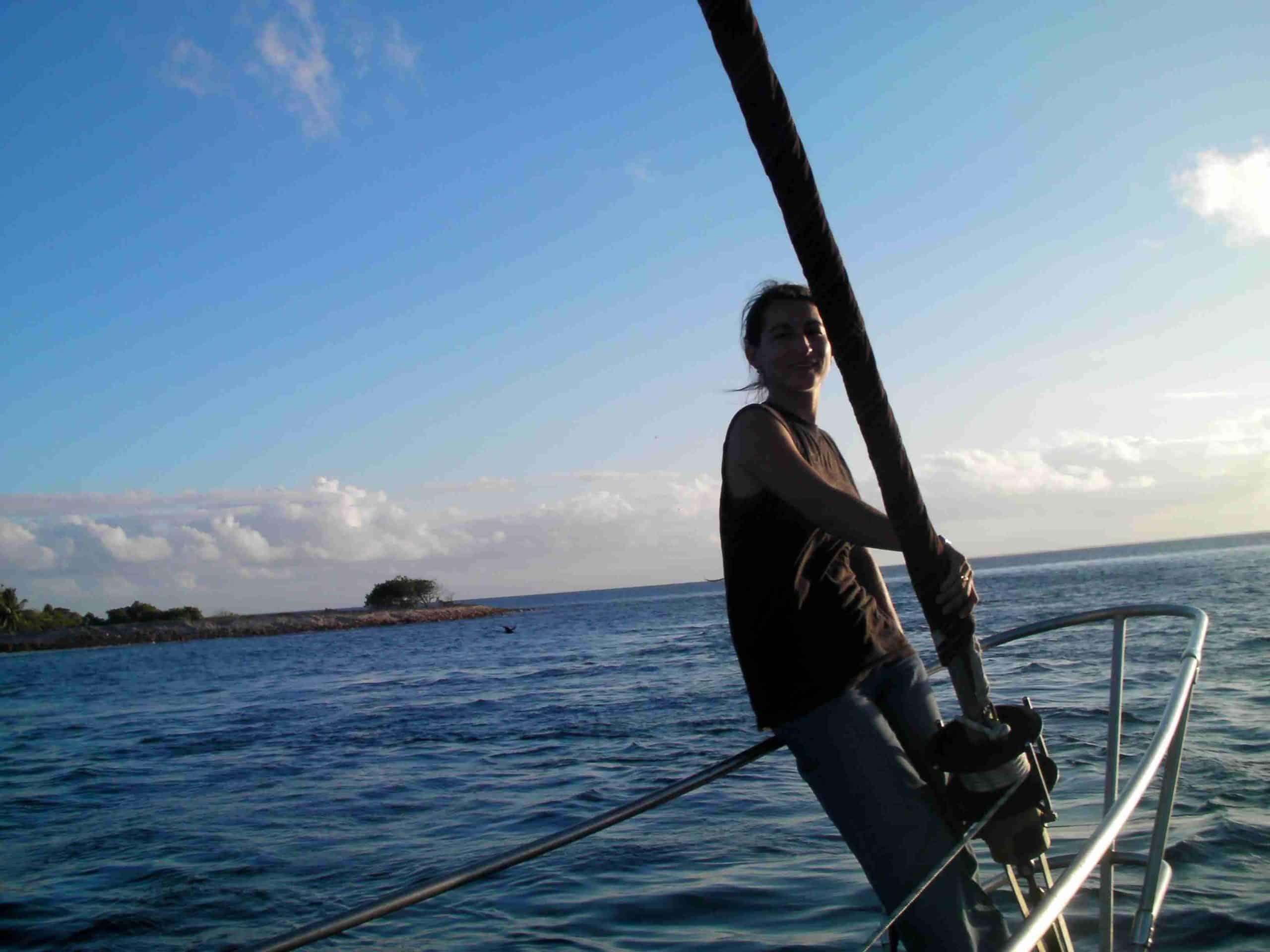 Voilier a Kauehi