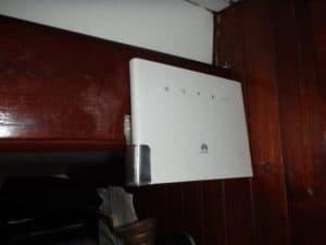 test de la fixation du routeur wifi