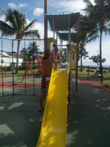 Toboggan au jardin de Paofai à Tahiti