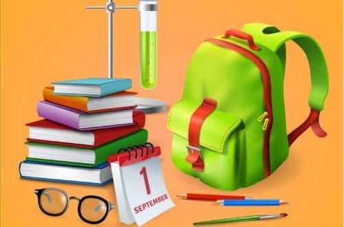 Materiel scolaire en voyage