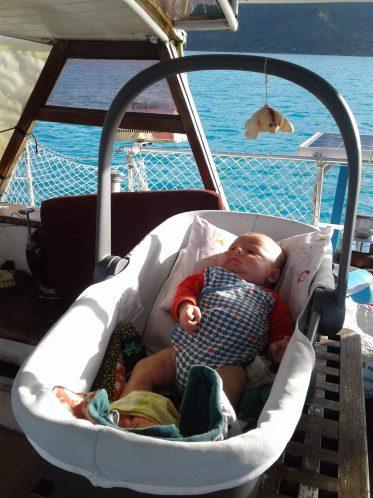 Nacelle bébé voilier