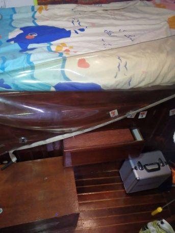 aménagement des marches pour monter dans le lit