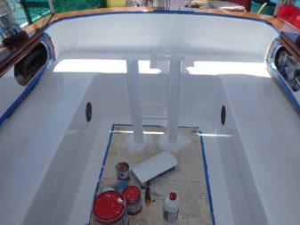 peinture du cockpit finit